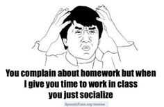 Complain about Homework #teachermemes
