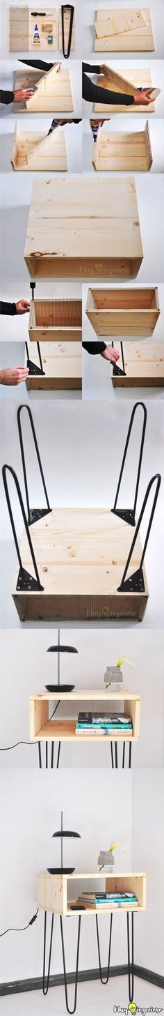 DIY Hairpin Legs Side Table - Mesa DIY con pies hairpin (Couleur Pour Salon)