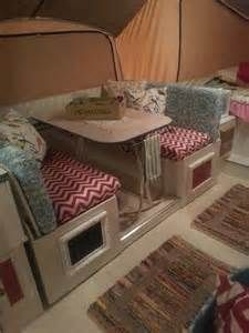 Linoleum flooring is different than vinyl pictures to pin on pinterest - Pop Up Camper Redo Sofa Area Painted Cabinetry Added