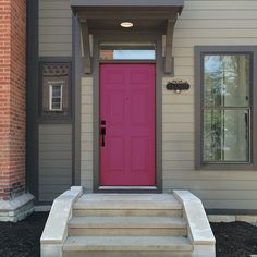 Exuberant Pink (SW 6840) will make any guest feel welcome.