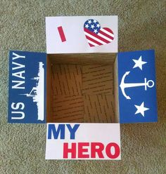 Care package box kit I love my hero by BekProductions on Etsy