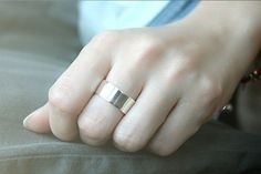 8 mm Silver Ring Personalized Ring Silver Sterling Silver Engraved Ring