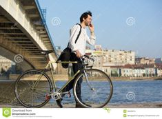 Image result for man bicycle phone