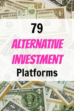 79 Alternative Investment Platforms to Earn Stronger Returns, Build Cash Flow, and Diversify Your Portfolio - Side Hustle Nation Work From Home Jobs, Make Money From Home, Way To Make Money, Make Money Online, Quick Money, Money Fast, Investing Money, Saving Money, Real Estate Investment Fund