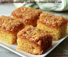 Aromatic Cooking: Eggless Drommekage Fra Brovst/ Danish Dream Cake...use almond Mylk for the dairy milk. Use gf flour.
