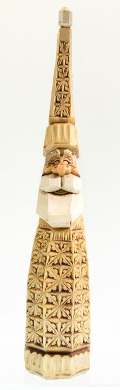 Hand Carved Wooden Santa  Chip Carved with by RusticRoadStudio, $350.00