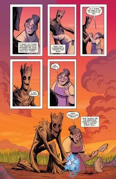 """captain-clady: """" mrkenyon: """" why-i-love-comics: """" Groot """"written by Jeff Loveness art by Brian Kesinger """" """" I did not ask for tears this morning. Marvel Funny, Marvel Memes, Marvel Dc Comics, Marvel Avengers, Groot Comics, Cute Comics, Funny Comics, Gi Joe, Estilo Anime"""