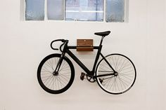 Minimalist Indoor Bike Racks - Finding the right place to store your bicycle indoors can be a challenge, but if you're looking for a sleek and modern way to hang these prod. Indoor Bike Rack, Indoor Bike Storage, Bike Storage Rack, Rack Shelf, Bike Hooks, Bike Shelf, Bike Hanger, Bicycle Rack, Sexy Fotografie