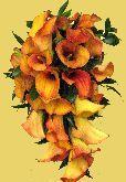 Stunning Rust Orange Calla bridal shower bouquet