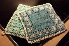 Crochet potholders - hæklede retro grydelapper