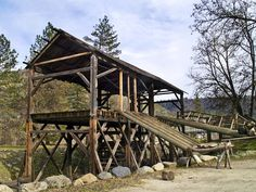 Sutter's Mill, gold discovery site that kicked off the 1849 California gold rush. Coloma, CA