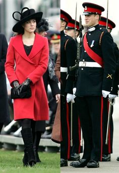 Prince William and Duchess Kate's Romance Retrospective - Royal Stamp of Approval - In December 2006, Kate made her first appearance at an official royal event when she attended Prince William's graduation from the Royal Military Academy. Will's private secretary and two of his best friends accompanied Kate and her parents to the ceremony -- which was also attended by the Queen.