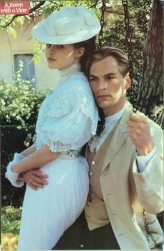 A Room With A View film 1985 with Helena Bonham Carter, Julian Sands.  A young Englishwoman makes her first visit to Florence, Italy in the early 1900's.
