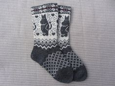 Knit wool socks, wool socks with a pattern, handmade socks,christmas socks, fairisle socks Fair Isle Knitting Patterns, Knit Patterns, Wool Socks, Knitting Socks, Knit Crochet, Handmade, Etsy, Tove Jansson, Warm Fuzzies