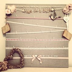 Love Love this wedding memory board. Have your guests sign a note and hang it on the board