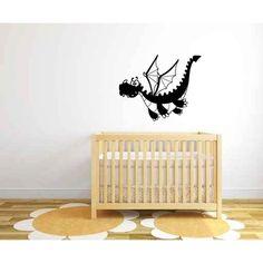 Zoomie Kids Lela Dragon Baby Silhouette Wall Decal
