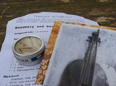 Rosemary Sugar 'Letter' includes Recipe for by PumpjackPiddlewick