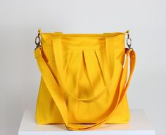 Yellow Two Big Pocket Large Bag Zipper Closed Removable Adjustable long Strap Purse Shoulder bag CrossBody Cross Body Bag Gift bags and purses shoulder bag handbag messenger bag zipper closure cross body bag Diaper bag pleated bag large bag canvas bag eco friendly shoulder purse large pocket 37.00 USD #goriani