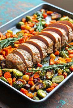 One Pan Pork Tenderloin with Fall Vegetables