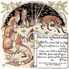 'The Baby's Own Aesop', 1887 by Aesop and Walter Crane, Illustrated by Walter Crane