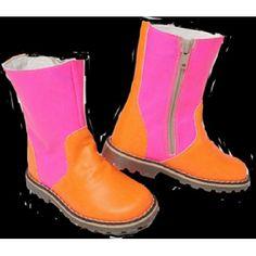 Boots bicolores Rose et Orange fluo [Chat Mechant]