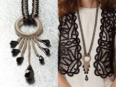 Crocheted necklace, it doesn't look crocheted