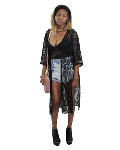 Lace it up with our Lace Bustier and Lace Kimono! Shop for it at www.marshnmallow.com or marshnmallow.storenvy.com