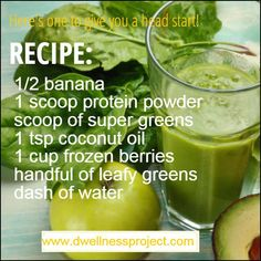 I LOVE Green Smoothies. I have a few of my staple favorites, but I always like to try new recipes.This week, your Challenge is to try at least 1 NEW Smoothie Recipes for Breakfast. Green Smoothies, Smoothie Recipes, New Recipes, Coconut Oil, Breakfast Recipes, Berries, At Least, Frozen, Challenges