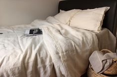 Natural 100% pure linen bedding in London Linen&White   Product Page