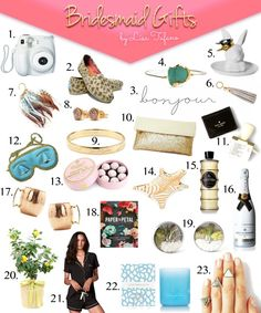 THINK LIKE A BOSS LADY, created by Lisa Tufano | Unique Bridesmaid Gifts Under $60   Buying Tips | http://thinklikeabosslady.com