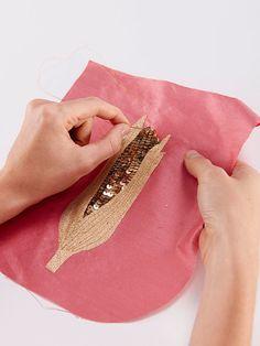 burda style - Deko: Kostenlose Vorlage für die Glitzernde Mais-Wimpelkette