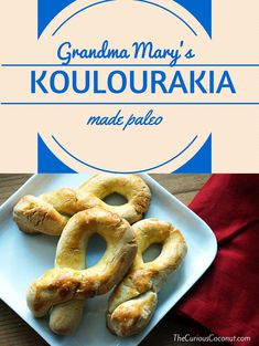 Grandma Mary S Koulourakia Traditional Greek Shortbread Cookies Grain Free Paleo Option