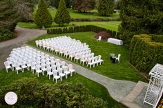Now that's one gorgeous view, wouldn't you say?! Outdoor ceremony location at Pitt Meadows Golf Club in Pitt Meadows, BC. Photo by GC Photography, as seen on BRIDE.Canada