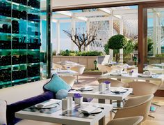 """Sergi Arola combines creative flair with a passion for seasonal ingredients in the pure """"tapas"""" style, at Arola restaurant, Hotel Arts Barcelona."""