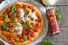 Pizza rústica de tomate cherry y gorgonzola #pizzarústica #lachinatacom