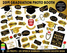 Class of 2018 photo booth props-graduation photo booth props-graduation photo props-grad graduation photo props Photobooth Props Printable, Graduation Photos, Graduation Makeup, Graduation Ideas, Party Props, Party Ideas, Photo Booth Props, Photo Booths, Graduation Decorations