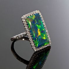 art deco opal ring...  Totally perfect engagement ring!