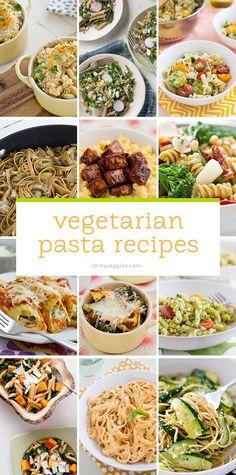 25 Vegetarian Pasta Recipes from Oh My Veggies