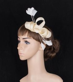 Elegant multiple color  sinamay  fascinator headwear occasion  headpiece  events  hair accessory suit for all season TMYQ095
