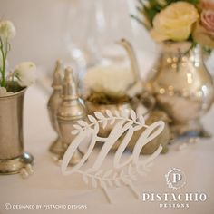 Perspex wedding table number by www.pistachiodesigns.co.za Wedding Table Numbers, Pistachio, Place Cards, Reception, Stationery, Place Card Holders, Table Decorations, Design, Home Decor