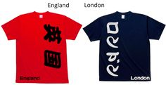 Handwritten England Design Tee.  England and London become cool design your kids wear.   http://wakuwakubox.com/product/england-london-design-tee/