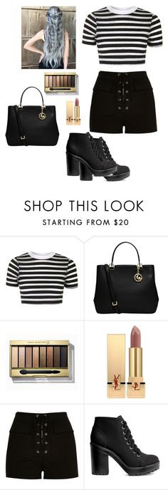 """Untitled #548"" by cutegoth ❤ liked on Polyvore featuring Topshop, MICHAEL Michael Kors, Max Factor, Yves Saint Laurent, River Island and H&M"