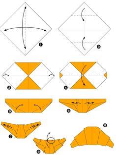 Diagramme d'origami de croissant