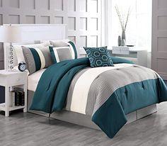 6-Piece Mandarin Comforter Set Teal King Luxury Home https://www.amazon.com/dp/B014RWSJIQ/ref=cm_sw_r_pi_dp_Tn0BxbFJPHG98