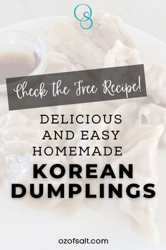Delicious homemade Korean dumpling recipe is a perfect family meal that is simple and easy to make. A dish great for an appetizer for parties too! Check out the full recipe at #ozofsalt. Sugar Dumpling, Dumpling Skin, Dumpling Recipe, Easy One Pot Meals, Easy Family Meals, Easy Weeknight Dinners, Easy Holiday Recipes, Thanksgiving Recipes, Healthy Dinner Recipes