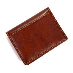 Tony Perotti Men's Italian Bull Thin Bifold Credit Card Holder Wallet 3 inches long x 4 inches H x 0 -