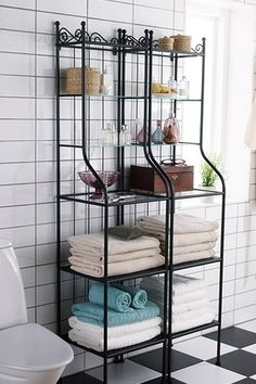 Get Organized With The RÖNNSKÄR Bathroom Storage Stand. This Stand Has  Removable Shelves Which Makes