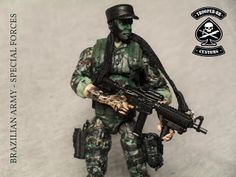 FORÇAS ESPECIAIS - EXÉRCITO BRASILEIRO (SPECIAL FORCES - BRAZILIAN ARMY) ~ Gi joe Customs