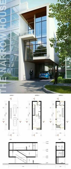Architecture Discover The narrow house Architecture Design, Residential Architecture, Contemporary Architecture, System Architecture, Architecture Quotes, Light Architecture, Landscape Architecture, Building Facade, Building Design