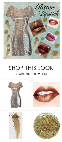 """Glitter Glam"" by lena-kontos ❤ liked on Polyvore featuring beauty, Gucci, Smith & Cult, Fountain, glitterlips and LilyBoutique"